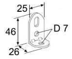 Dierovaný uholník Webasto 90 ° pozink