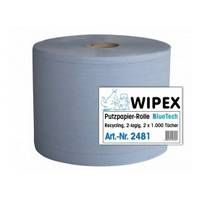Papierová utierka 2-vrstvová modrá NORDVLIES Wipex