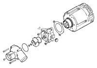 Náhradné diely čerpadlá Flowtronic 6000SC 252488992510 Eberspächer