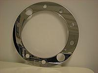 Ozdobný prstenec na zadnej disk Simulator America