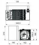 Indel B UR35 12/24V MAN TGA/TGX kompresorová autochladnička