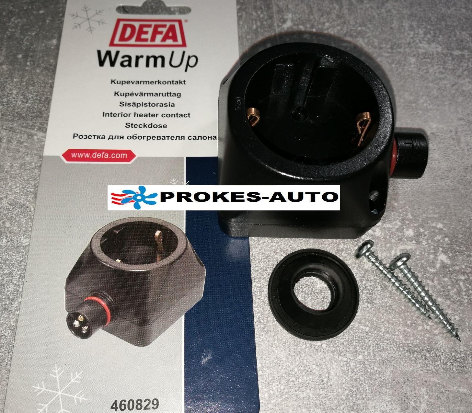 Zásuvka 230V Defa pre montáž vo vozidle A460829 / 460829