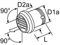 Webasto Výstup vzduchu 55mm 90 ° - 101625