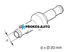 Eberspächer Spätný ventil 2x 20mm 25400072 / 221000100800
