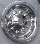 """Zadné pokrievky na kolesá z nereze typu Deluxe-17,5 """""""
