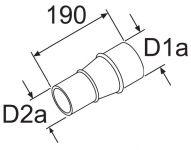 Redukcia 80 / 60mm 252565/1319312 Webasto