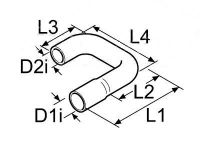 Tvarovaná vodné hadice Di20 / D2i15 / D1a27 / D2a22mm 89116 / 1320901 Webasto