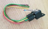Relé 12V / 30A / 5 pólov / 16 Ω vrátane pätice s káblami