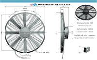 Axiálny ventilátor tlačný Ø 385mm 12V GENERAL CAB 90050409 / OE VA18-AP71/LL-86S / VA18-AP70/LL-41S GENERAL CAB ITALY