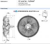 EBM PAPST ventilátor sacia 630 mm 400V 4 pólový S4D630-AH01-01