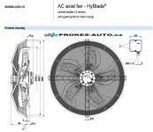 EBM PAPST ventilátor sacia 800 mm 400V 6 pólový S6D800-AD01-01