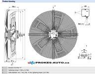 EBM PAPST ventilátor sacia 910 mm 400V 8 pólový S8D910-CD01-01