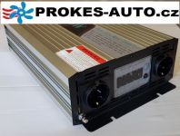 Menič napätia / Power Inverter 2000W čistá sínusoida LCD displej