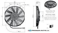 Axiálny ventilátor tlačný Ø 255mm 24V