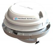 Strešné / nástenný ventilátor MaxxAir Maxxfan Dome 12V, biely, s LED osvetlením