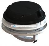 Strešné / nástenný ventilátor MaxxAir Maxxfan Dome Plus 12V, čierny, s LED osvetlením