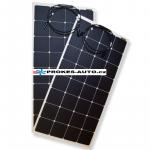 Sada flexibilných solárnych panelov 2 x 110W / 12 alebo 24V vr. regulátora s pripojením bluetooth