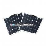 Sada flexibilných solárnych panelov 2x 55W / 12 alebo 24V vr. regulátora s pripojením bluetooth