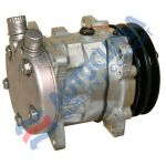 UNI-Kompressor 12V SANDEN 5H09 Modell 5072 Riemenscheibe 125 mm 2GA-Anschluss OR vertikal