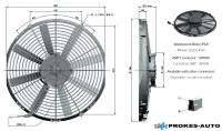 Ventilátor GENERAL CAB 24V tlačný 350mm 2514 m3/h  / 90050235 / VA08-BP51/LL-23S