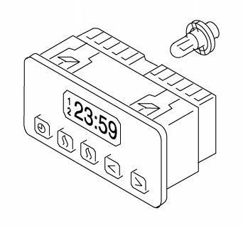 Predvoľbové hodiny 1529 Webasto 12V / 63400