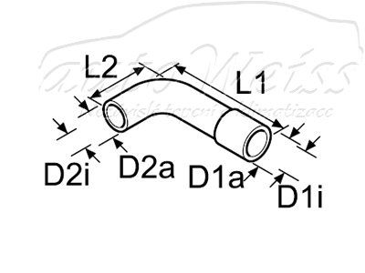 Tvarovaná vodné hadice 18/20 mm 151/55 Webasto